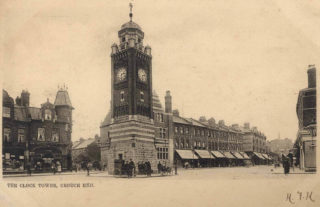 Crouch End Clock Tower & Broadway,1904