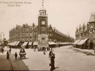Clock Tower & Topsfield Parade,1895