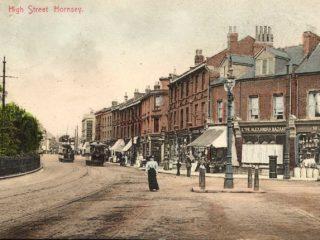 High Street Hornsey, junction Middle Lane
