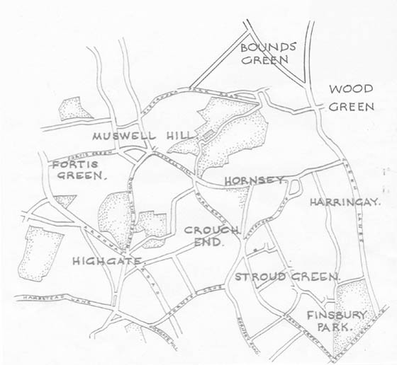 Hornsey Historical Society Area Map