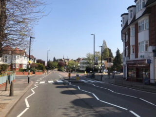 Alexandra Park Road, midday, 11 April 2020 - Deirdre Stowell-Smith