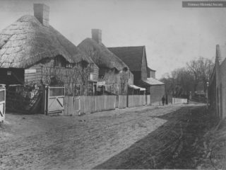 Old Cottages in Colney Hatch Lane, 1888