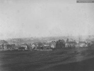 Panorama of Colney Hatch Asylum and the Freehold, 1887