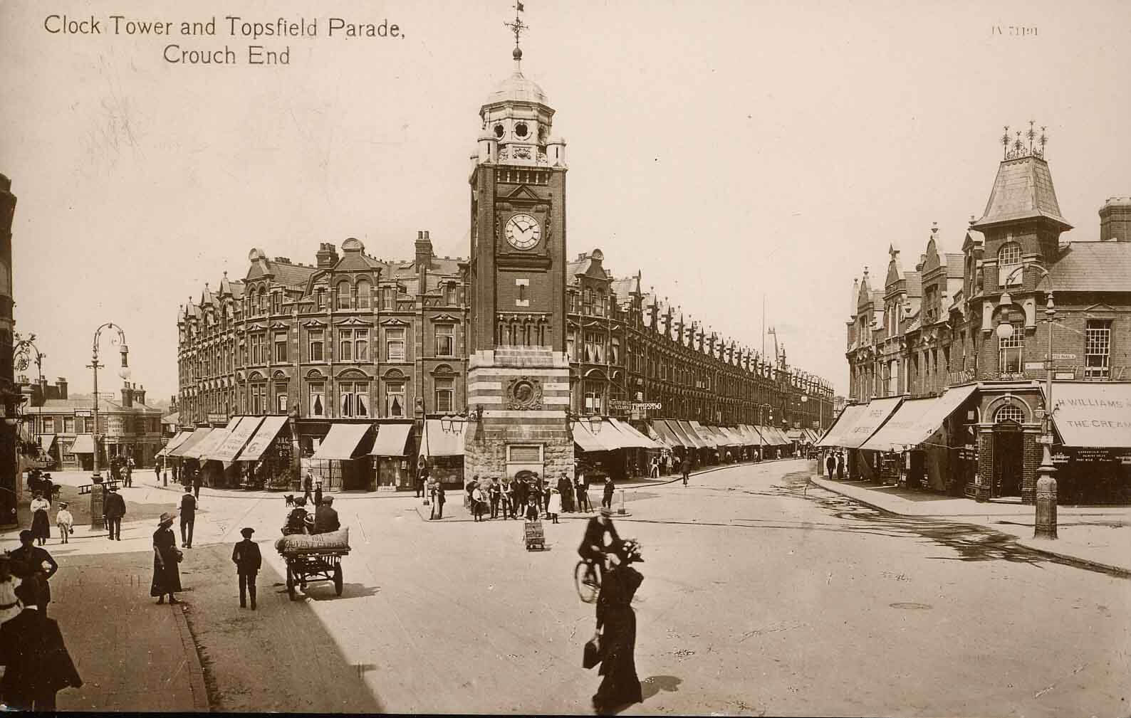 Clock Tower & Topsfield Parade,1895