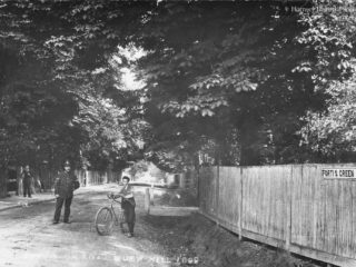 Fortis Green Road facing St James Lane, 1896