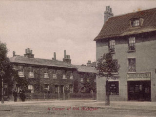 North Road corner of Castle Yard, Highgate