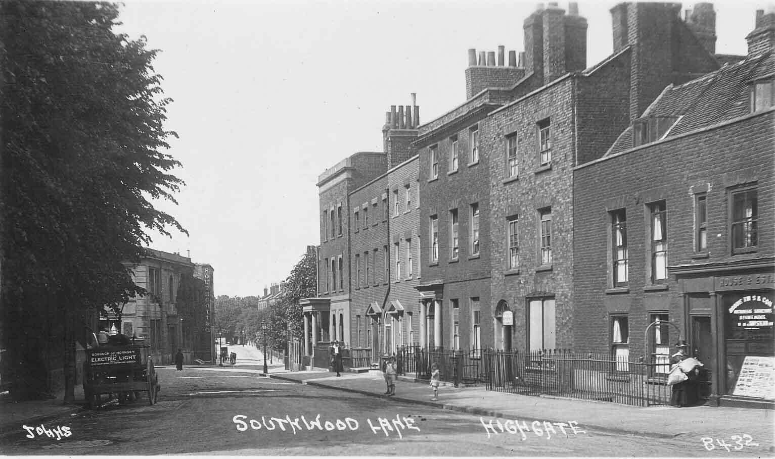 Postcard of Southwood Lane, Highgate