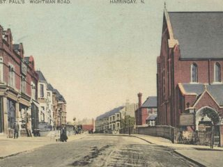 Postcard of Wightman Road, Harringay