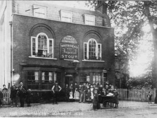 Postcard of The Three Compasses, Hornsey,1892