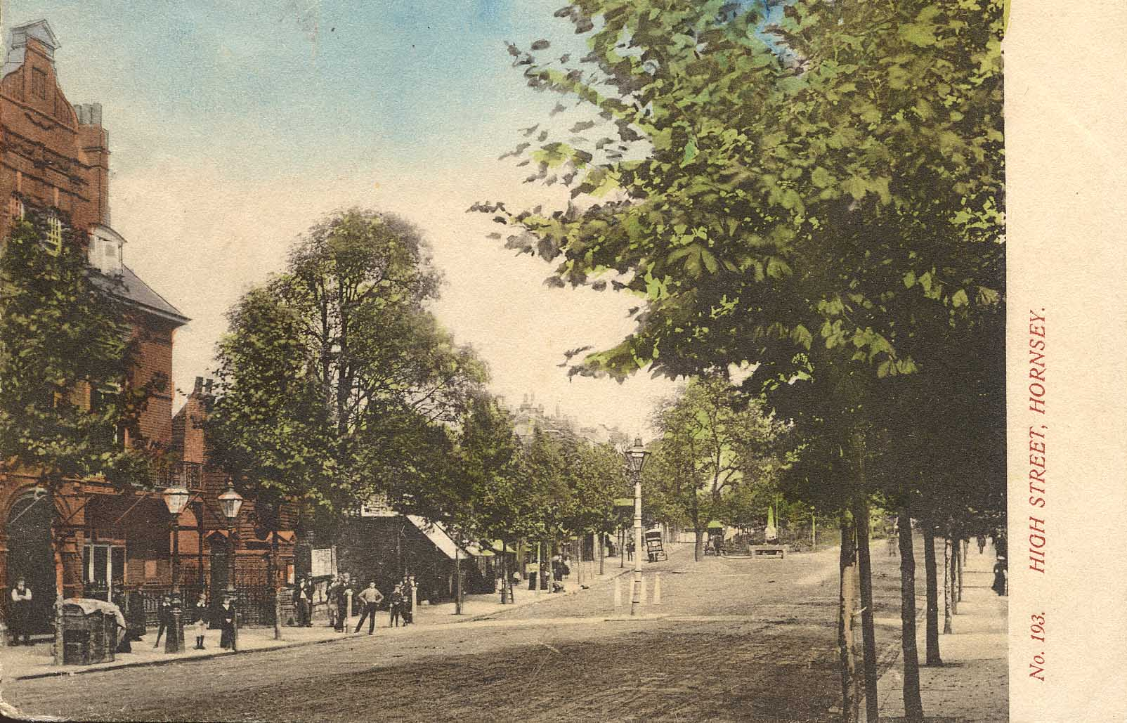 High Street, Hornsey, leading to the church