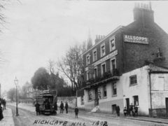 Highgate Hill, The Old Crown pub,1892