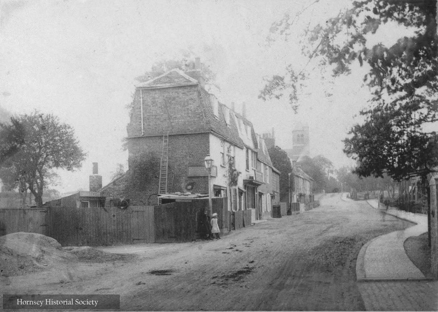 Manor Cottages, Manor Place Tottenham Lane Crouch End circa 1894