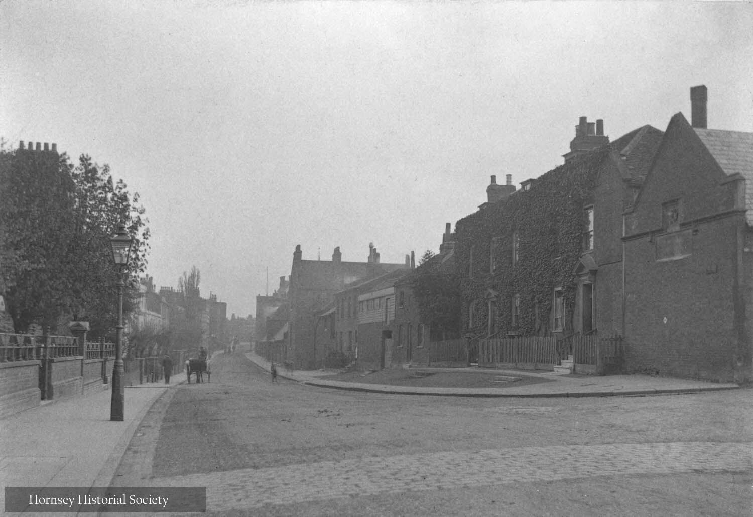 Old Houses Southwood Lane Highgate circa 1906