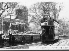 St Mary's Church and Tram Hornsey High Street 1908