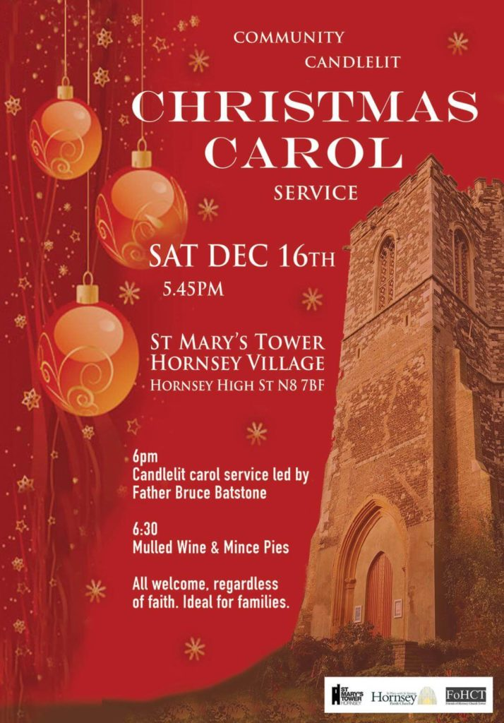 Carol Service at St Mary's Tower, Hornsey