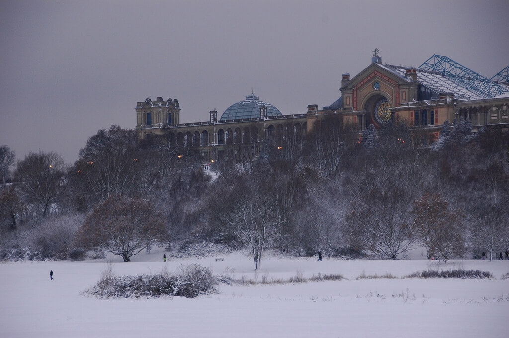 Alexandra Palace Frosted by Snow
