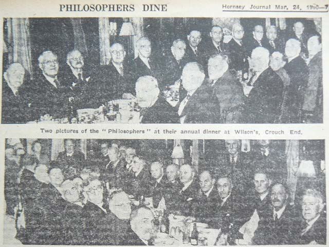 Priory Park Philosopher's Dinner, 1950