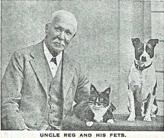Uncle Reg with his pets