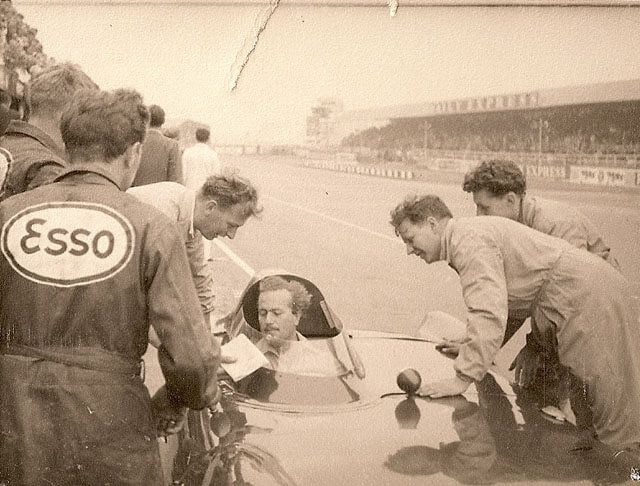 Colin Chapman in a Lotus