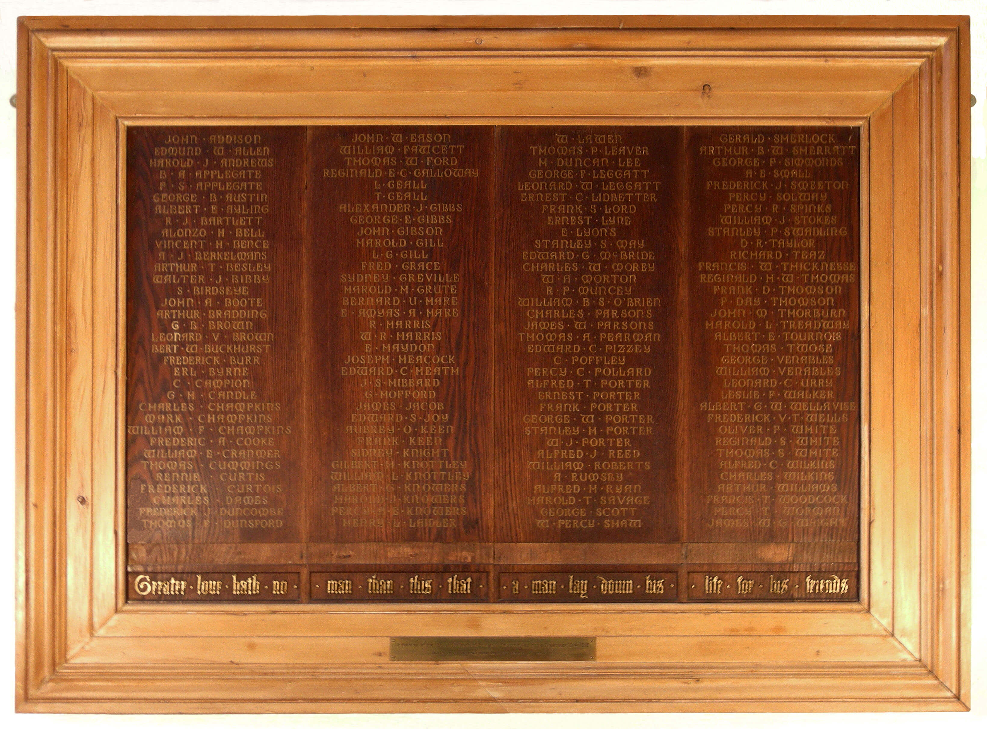 St Mary S Tower Memorial Boards