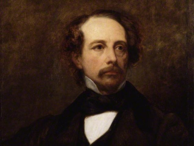 Portrait painting of Charles Dickens